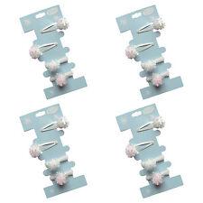 TU Snowball 4 x Sets Snowflakes 2 Hair Clips 2 Hair Bobbles White & Soft Age 3+