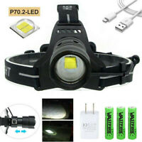 XHP70 XHP90 XHP100 LED Headlamp Zoom USB Rechargeable Headlight Torch Bright