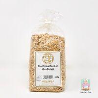 Frische BIO-Dinkelflocken Großblatt vom Hofladen | Hochwertiges Müsli | 500g