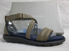 Rockport Size 8 M Fossil Beige Leather Sport Sandals New Womens Shoes