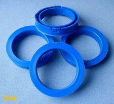 (S44) 4 St. Zentrierringe 73,1 / 57,1 mm blau für Alufelgen