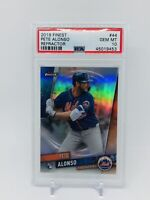 2019 Topps Finest Pete Alonso RC Refractor PSA 10 Gem Mint New York Mets