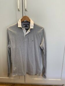 Tommy Hilfiger Mens Long Sleeve Embroidered Rugby Shirt Top Size Small