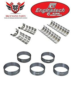 Ford 221 255 260 289 302 5.0 Enginetech Rod Main And Cam Bearings Set 1962-2001