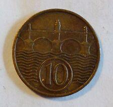 Tschechoslowakei - 10 Heller - 1937 Czechoslovakia Erste Republik vz / xf