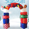 Giant 8Ft Inflatable Christmas Arch Archway Airblown Lighting Garden Yard Décor