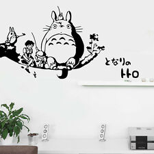 My Neighbor Totoro Kids Bedroom Wall Stickers Home Decor Animals Decal Mural Art