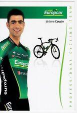 CYCLISME carte cycliste JEROME COUSIN équipe EUROPCAR 2012