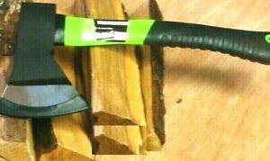 FIBREGLASS HANDLED WOOD AXE - Hand Hatchet Kindling Firewood Log Chopper Handle