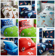 NEW MIX Kids Boys Duvet Quilt Covers Reversible With Matching Fitted Sheet Sets
