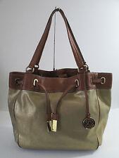 Michael Kors Large Marina Gold Drawstrings Tote Shoulder Handbag
