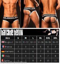 TG. S Barcode Berlin Backless Fist Jockstrap Red Jock traforato mod. Sergio Nero