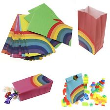 40pcs  Rainbow Pattern Cookie Snacks Candy Paper Bags Party Favor Gift Package