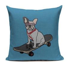 Boston Terrier B10 Skateboard Skater Cushion Pillow Cover Pet French Bulldog