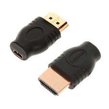 HDMI mâle vers HDMI Micro Femelle Adaptateur gold menuisier HDTV 1080P