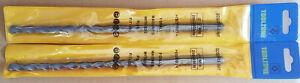 2 x SDS+ DRILL BITS 10mm x 200mm TUNGSTEN CARBIDE BRICK CONCRETE STONE MASONRY