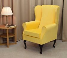 Small Westoe Wingback Chair In A Lemon Cambio Fabric   NEW