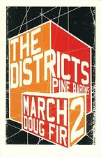 The Districts 2015 Gig Poster Portland Oregon Concert A Flourish and a Spoil