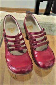 Womens John Fluevog Operettas Illeana Red Strappy Mary Jane Heel 8