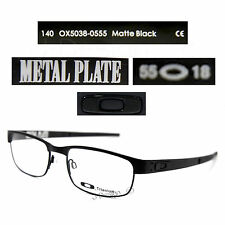 Oakley METAL PLATE OX5038-0555 Matte Black Titanium Eyeglasses Authentic New