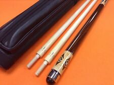 CEULEMANS CAROM CUE WITH 2 SHAFTS & CASE
