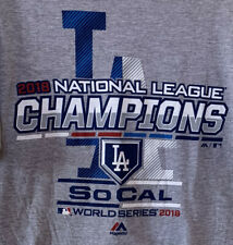 Los Angeles Dodgers 2018 National League Champions Majestic T Shirt MLB Small