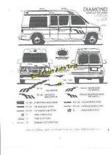 Graphic striping Custom Van, Truck, Boat, Auto, RV & ANY original Tiara Vehicle