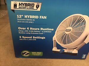 """New Hart 12"""" Hybrid Fan - Battery SOLD Separately.."""