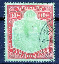Bermuda 10/- fine used   KGVI P14 1938-53 [B2002]