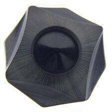 Vintage Bakelite Hand Carved Large Black Button For Fur Coat 1.5in N918