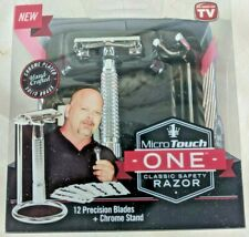 MICRO TOUCH ONE CLASSIC SAFETY RAZOR *AS SEEN ON TV* 12 PRECISION BLADES