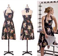 anthropologie moulinette soeurs dress go see 4 Halter Floral Black Small