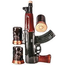 Geschenk-Set Souvenir Keramik AK-47 Flasche mit 4 Schnapsgläsern Stamper