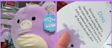 "Squishmallow 12"" Dina Dragon plush kellytoy  limited edition NWT RARE"