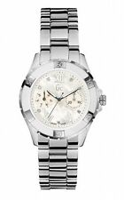 Guess GC Womens Diamond Multifunction White Dial Stainless Steel Watch X75102L1S