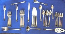 National Stainless  ' Swedish Crown '  38 Piece Vintage Flatware Set Japan