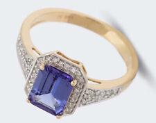 Harry Ivens IV Ring GG 585 Tansanit DeLuxe AAAA und Diamanten