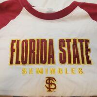 Florida State Seminoles Men Sz Large FSU White Tshirt Shirt Marroon Gold
