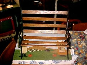 "Wood & Metal Park Bench American girl antique doll accessories 18"" doll USAGE"