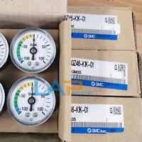 QTY:1 new For SMC vacuum pressure gauge GZ46-K-01 -100 ~ 0 KPA R1 / 8