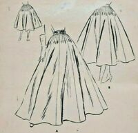 1950s Vogue Sewing Pattern 8584 Womens Skirt 3 Lengths Size 12 Wardrobe 5706F