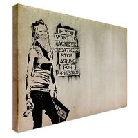 Achievements Banksy Quote Canvas Art Cheap Wall Print Home Interior