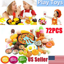 Kids Toys Pretend Role Play Kitchen Pizza Food Toy Cutting Set Child Xmas Gift