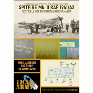 1 Man Army 1man32DET013 WH Spitfire MKI/II RAF 1941/42 1/32