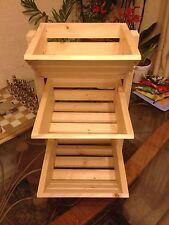 Heavy Duty Wooden Fruit N Veg Vegetable Rack Natural
