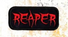 Reaper word patch grim reaper crest Iron to Sew on Patch Badge