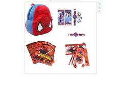 Spiderman Kids Character Set - Watch/backpack/book/pencil case - Party Bag