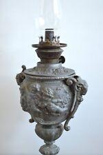 Vintage Antique Kerosene Table / Piano Lamp Angels goats Kosmos brenner burner