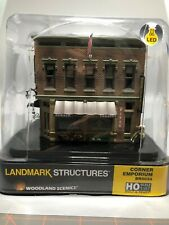 Woodland Scenics HO Scale Built and Ready Structures Corner Emporium BR5024