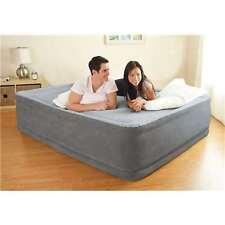 Intex Comfort Plush Elevated DuraBeam Airbed w/ Built-In Pump - Queen (Open Box)